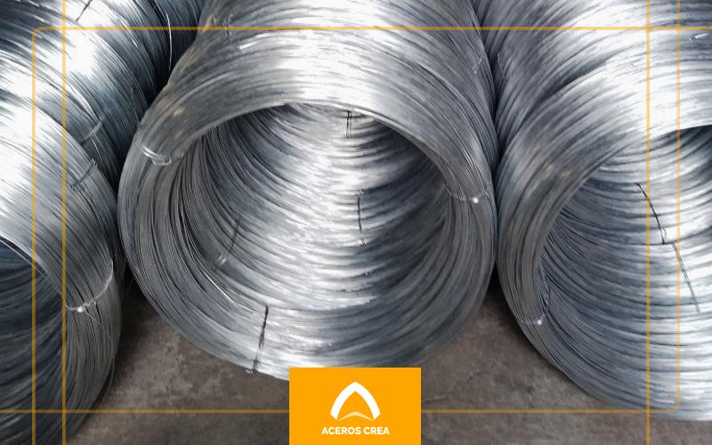 Rollos de alambre de acero galvanizado